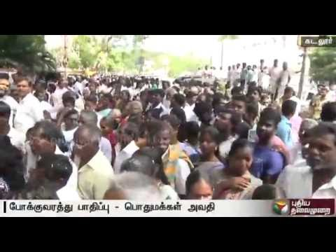 Traffic-affected-in-Cuddalore-as-100-of-candidates-file-their-nominations-for-local-body-elections