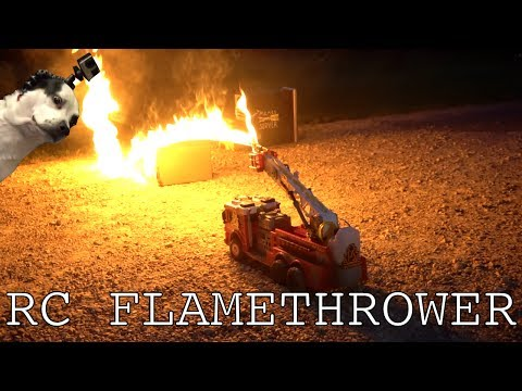 A RemoteControlled Flamethrower Firetruck Wreaks Havoc on