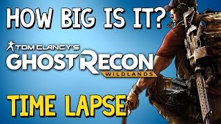 How Big Is Ghost Recon Wildlands?This has taken a while but here it is, a time lapse walk across Ghost Recon Wildlands! Enjoy ya bastards!» Music: Anders Ekengren - Summer Cosy 6» How Big Is It? Full Playlisthttps://www.youtube.com/watch?v=Q5_COXFqgDU&index=1&list=PLc8BhPpsPhWbolaLohLkiFff6QjobVfHV&t=10s» Don't forget to like the video and subscribe to the channel for more ridiculous videos like the one you've just seen.» Support me by becoming an 8-Bit Bastard Patreon, you'll gain access to exclusive content! https://www.patreon.com/8BitBastardStay Connected!• Twitter: https://twitter.com/8Bit_Bastard• Patreon: https://www.patreon.com/8BitBastard• Facebook: https://www.facebook.com/8BitBastard/