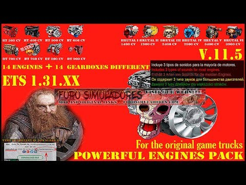 Pack Powerful engines + gearboxes v11.5 for 1.31.x