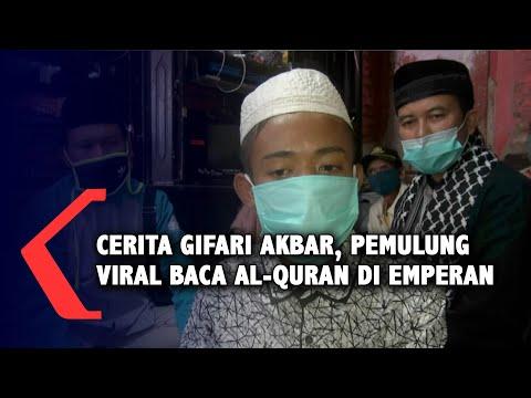 Kisah Gifari Akbar, Pemulung yang Fotonya Viral Baca Al Quran di Emperan Toko