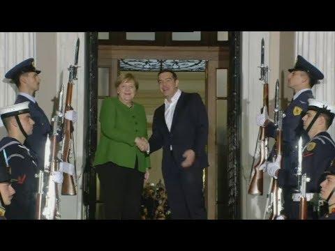Συνάντηση του πρωθυπουργού με την καγκελάριο της Γερμανίας Άνγκελα Μέρκελ, στο Μέγαρο Μαξίμου