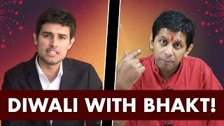 Video Diwali with Bhakt | Pee News Interview by Dhruv Rathee ft. Akash Banerjee on crackers MP3, 3GP, MP4, WEBM, AVI, FLV Juli 2018