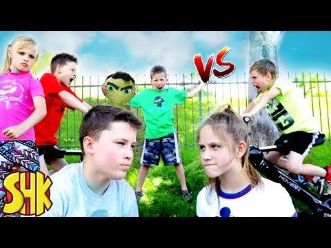 The Incredible HULK CLASH! Ninja Kidz TV vs SuperHeroKids