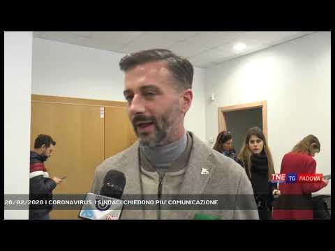 26/02/2020 | CORONAVIRUS. I SINDACI CHIEDONO PIU' COMUNICAZIONE