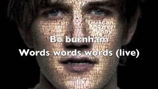Watch Bo Burnham: Words, Words, Words Online Free - YesMovies