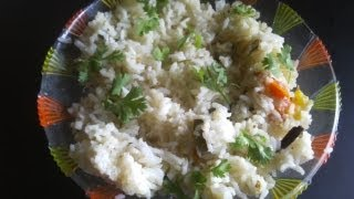 Thengai paal sadam or coconut milk rice