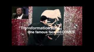 Transformation Painting - Pavarotti to Freddie Mercury (1 minute highlights video)