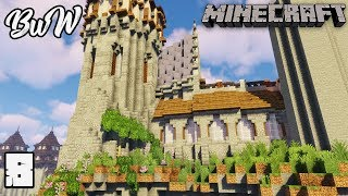 Let's Build a Castle #8 EPIC CASTLE WALLS : MINECRAFT 1.13.2 Survival Let's Play 164