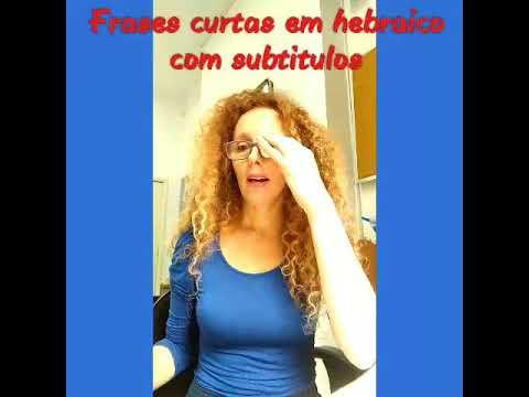 AULA DE HEBRAICO - frases curtas - novo vocabulario !