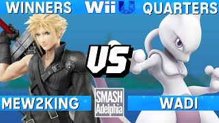 This Super Smash Bros. 4 Wii U tournament match features Mew2King as Cloud vs WaDi as Mewtwo. This Winners Quarters match at SMASHADELPHIA 2017 was livestreamed on 06/25/17.Enjoy the video? Hit the like button and drop a comment and let us know your favorite part. Share it with your friends and spread the hype!Check out our website:► http://clashtournaments.comWatch our live streams:► http://twitch.tv/clashtournaments► http://hitbox.tv/clashtournamentsFind us on social media:► http://facebook.com/clashtournaments► http://youtube.com/clashtournaments► http://twitter.com/clashtournament► http://instagram.com/clashtournamentsBe sure to Follow and Subscribe to us to keep up to date on all of our content. Click the bell next to the subscribe button to receive instant notifications on all uploads!