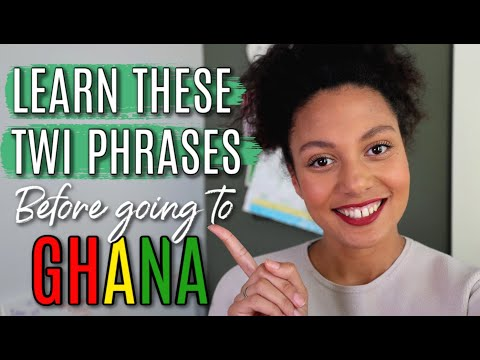 LEARN TWI BEFORE GOING TO GHANA | TOP 20 TWI AKAN PHRASES FOR BEGINNERS