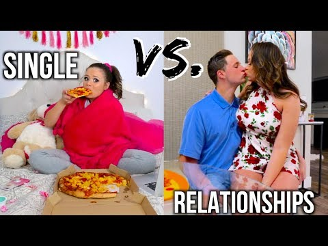 Single Vs. Relationships On Valentines Day! (видео)