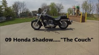 3. 09 Honda Shadow aero,  walk around and short ride