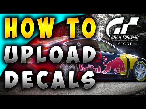 How to Create and Upload Custom Decals to Gran Turismo SPORT Tutorial (EASY WAY)