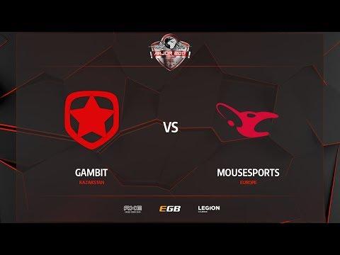 Gambit vs mousesports, inferno, PGL Major Kraków 2017