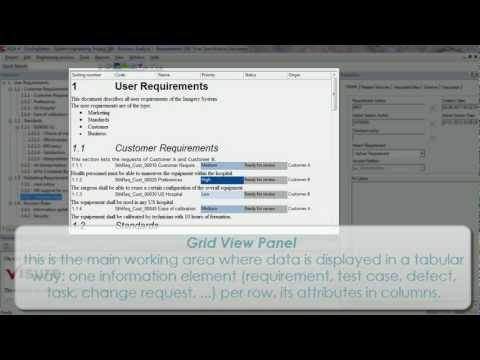 Visure Requirements Tutorial: Visure Requirements User Interface - Requirements Engineering