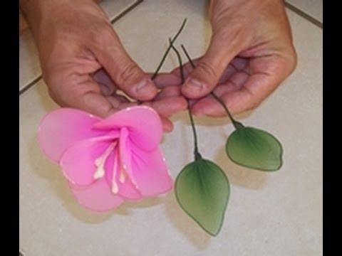 Flor com Folhas