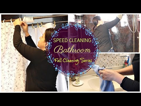 SPEED CLEANING BATHROOM || FALL CLEANING SERIES Ep. 6