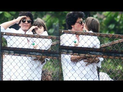 Shah Rukh Khan And AbRam Wishes Eid Mubarak , WAVE