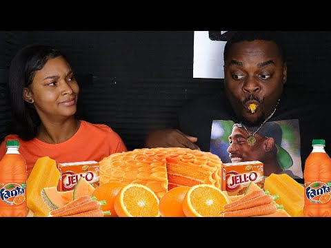 ASMR MAKANAN HANYA ORANGE HANYA | CRUNCHY, FIZZY & RELAXING ASMR SOUNDS | BEAUTY AND ASMR BEAST
