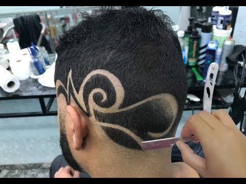 Corte de Cabelo Masculino - Degradê - Desenho - Geazi Barbeiro