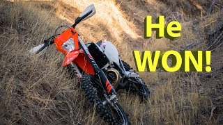 4. He Won the 2018 KTM 250 XC-W TPI!!!  Listen to the winning phone call!