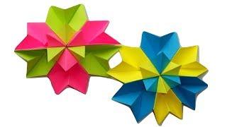 Красивые цветы из бумаги. Простые поделки оригами