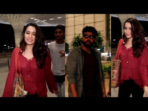 Shraddha Kapoor & Arjun Kapoor Spotted At Airport