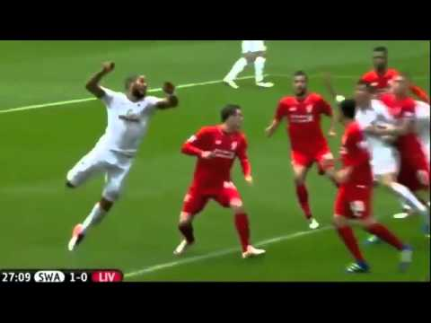 Swansea City 3-1 Liverpool Extended Highlights - English Commentary - 01.05.2016
