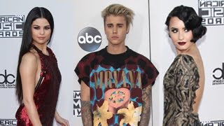 Celebrities Arrive At The 2015 American Music Awards- Justin Bieber, Selena Gomez And More full download video download mp3 download music download
