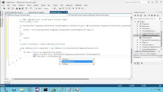A video showing how to create a plugin using the developer toolkit Add Plugin option. This plugin updates an associated bill entity with a fee from the case entity.