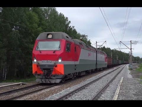 Самый мощный электровоз 2ЭС10-054 с 97 вагонами