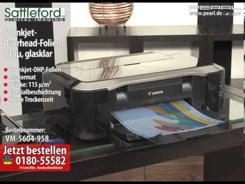 Sattleford 50 Inkjet-Overhead-Folien transparent