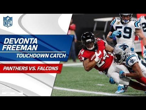 Video: Devonta Freeman Caps Off Drive w/ Speedy Catch-'n-Run TD! | Panthers vs. Falcons | NFL Wk 17