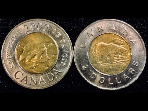 Canada $2 Dollar Coins - 1996 Toonie &  2000 Knowledge Toonie Commemorative Coin