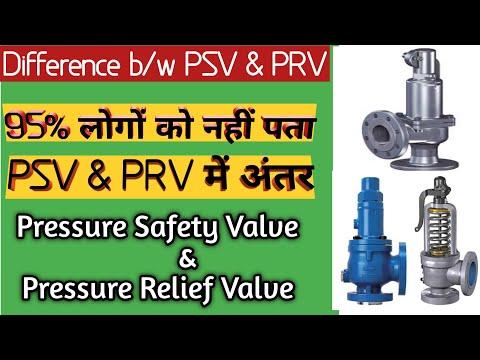 Difference Between PSV and PRV | PSV | PRV | Pressure Safety Valve | Pressure Relief Valve|PSV & PRV