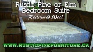 Mennonite Rustic Pine or Elm Bedroom Set - Reclaimed Wood