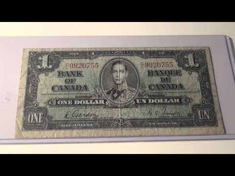 1937 $1 Note from the Bank of Canada