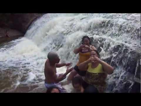 nós na cachoeira do saltinho em santana do itararé .PR