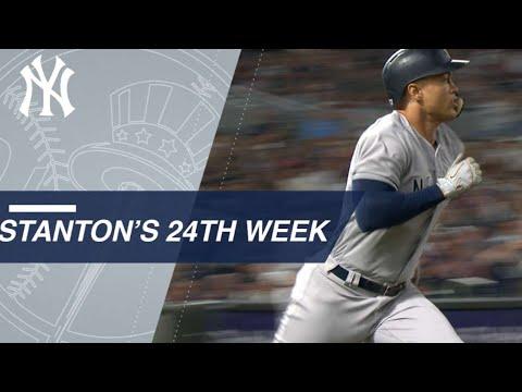 Stanton's go-ahead RBI highlights 24th week of 2018