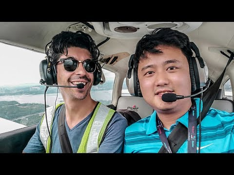 Flying a small plane in Singapore