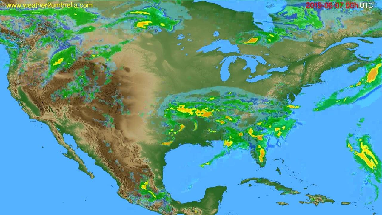 Radar forecast USA & Canada // modelrun: 12h UTC 2019-06-06