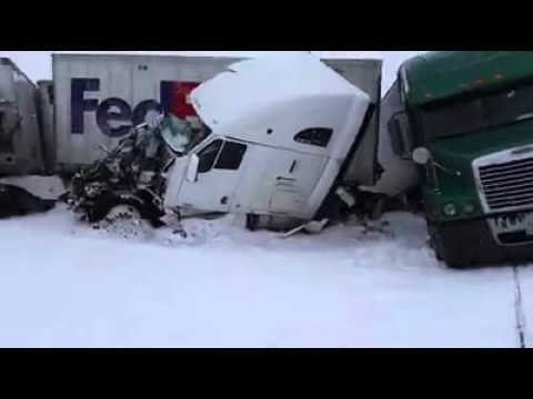 video of massive pile-up on I-80 in wyoming