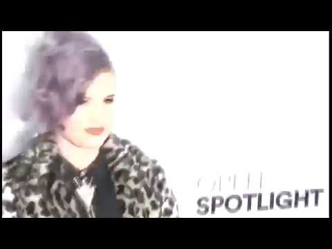 Kelly Osbourne wears a leopard print coat to an Airbnb event