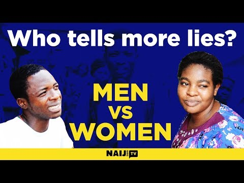 Who tells lies more, the man or the woman?