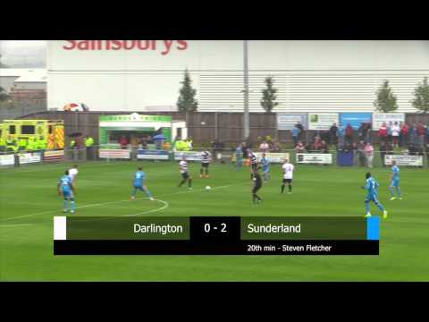 Sunderland - Darlington play Sunderland in their latest 2014/15 pre-season game. Against a strong Sunderland side Quakers are beaten but skipper Gary Brown nets for the h...