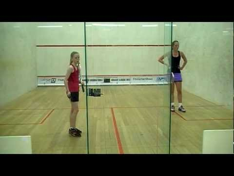 Kaitlyn vs Emily Squash U19 Final Game 3