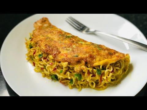 Maggi Omelette Recipe | Maggi Egg Omelette | Noodles Omelette | Easy Snacks Recipe|Breakfast Recipe