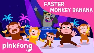 Monkey Banana Faster Version | Animal Song | Pinkfong Songs for Children